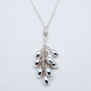 sterling silver drop necklace