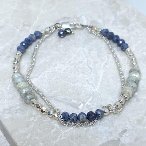 Silverite Sapphire Sterling Silver Bracelet