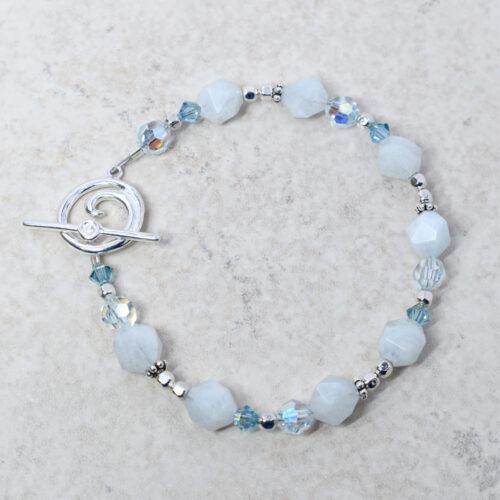 aquamarine toggle bracelet