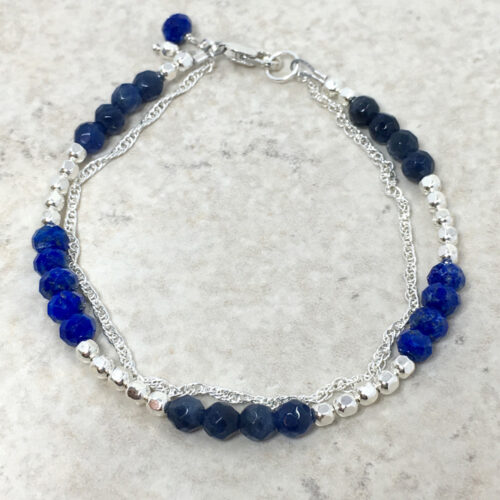 silver lapis bracelet