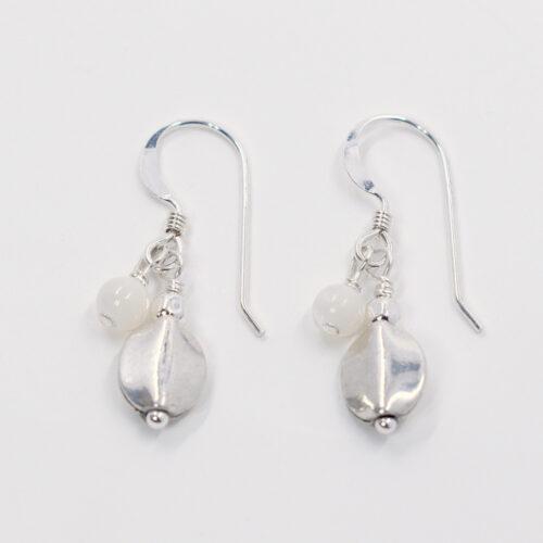 silver mother of pearl earrrings