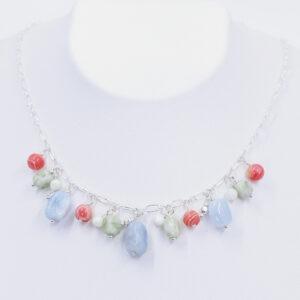 aquamarine multicolor necklace