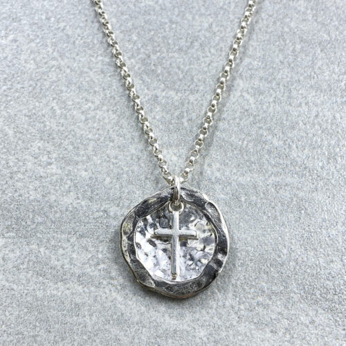 childrens silver cross necklace