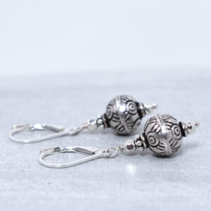 silver bali earrings