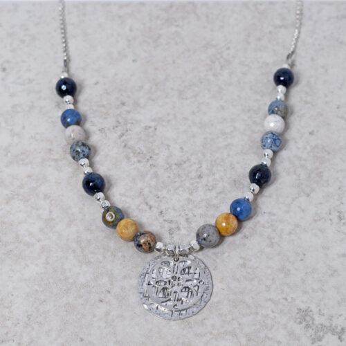 blue gemstone necklace