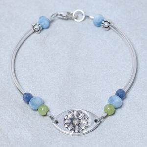 silver daisy bracelet