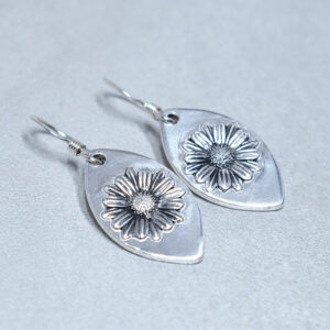sterling silver daisy compassion earrings