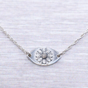 sterling silver daisy compassion necklace